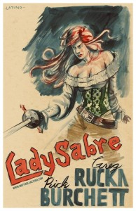 Lady Sabre Poster by Kyle Latino