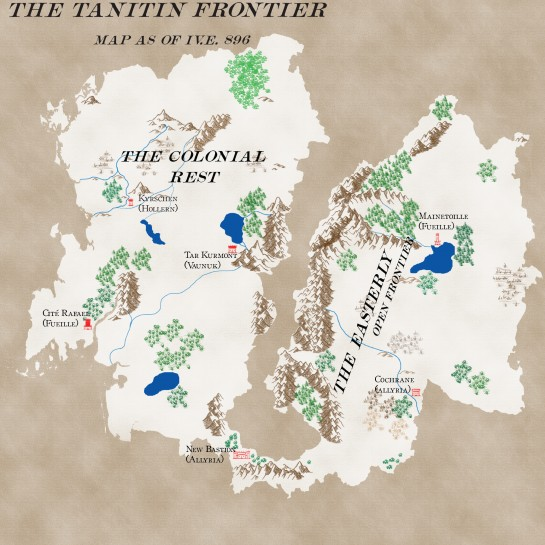 Map of the Tanitin Frontier